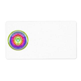 Uña del pulgar colorida de la rueda: Chispa del Etiquetas De Envío