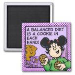 Una dieta equilibrada iman de nevera