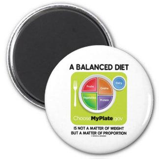 Una dieta equilibrada no es materia del peso (MyPl Imanes De Nevera
