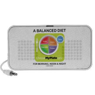 Una dieta equilibrada para la mañana el mediodía iPod altavoces
