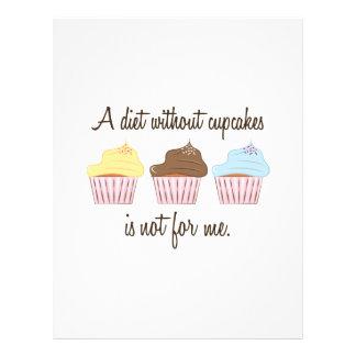 Una dieta sin las magdalenas no está para mí membrete a diseño