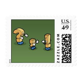 Una discusión entre amigos timbre postal
