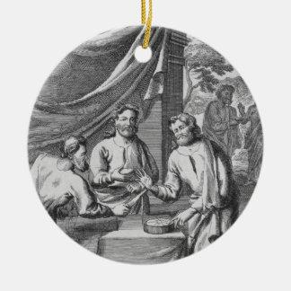 Una discusión entre los cartógrafos, ejemplo franc ornamento de reyes magos