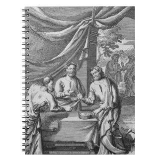 Una discusión entre los cartógrafos, ejemplo franc libro de apuntes con espiral
