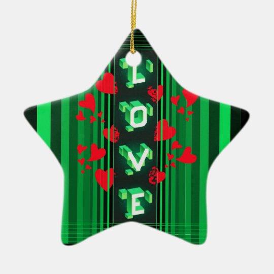 Una diversa clase de amor… adorno navideño de cerámica en forma de estrella