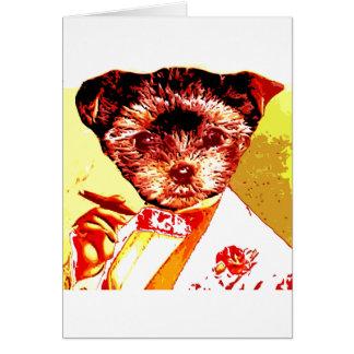 una diversa persona del perro tarjeta
