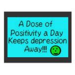Una dosis de la positividad al día, guarda…. tarjeta postal