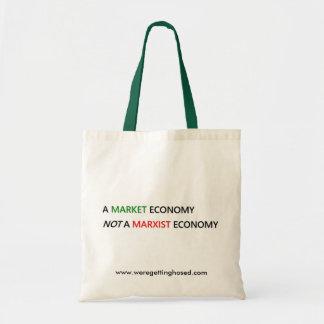 Una economía de mercado bolsa tela barata