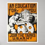 Una educación para usted ~ se une a los tanques poster