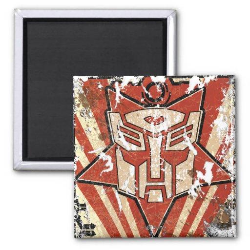 Una - el símbolo de Autobot Iman Para Frigorífico