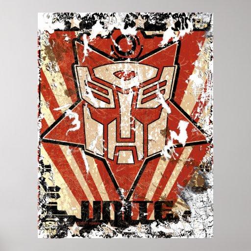 Una - el símbolo de Autobot Impresiones