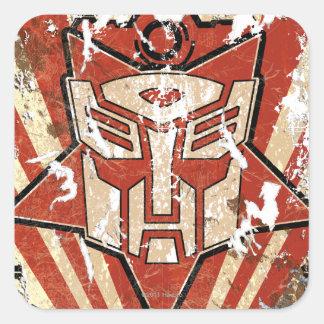 Una - el símbolo de Autobot Pegatina Cuadradas