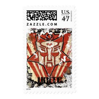 Una - el símbolo de Autobot Timbre Postal