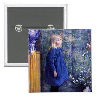 Una en vestido azul pin