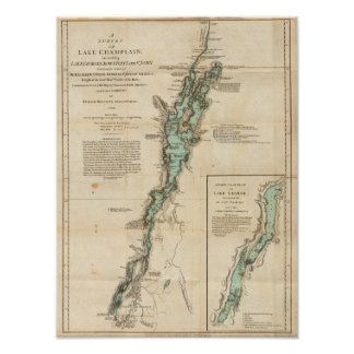 Una encuesta del lago Champlain Posters