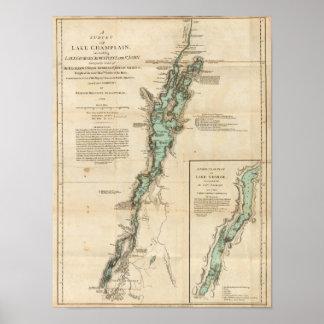 Una encuesta del lago Champlain Póster