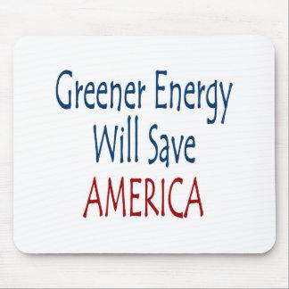 Una energía más verde ahorrará América Alfombrillas De Ratón