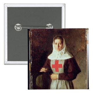 Una enfermera, 1886 pin cuadrada 5 cm