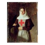 Una enfermera, 1886 postal