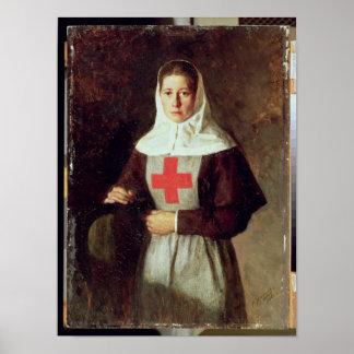 Una enfermera, 1886 póster