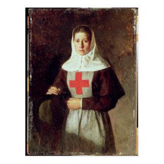 Una enfermera, 1886 tarjeta postal