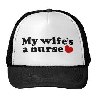 Una enfermera de mi esposa gorra