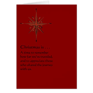 Una época de recordar - la tarjeta de Navidad roja