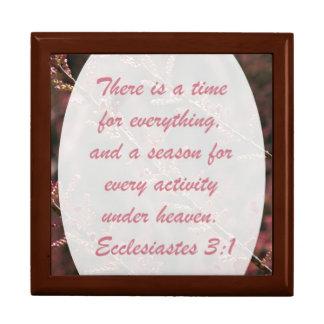 """""""Una época para todo"""", 3:1 de Ecclesiastes Cajas De Joyas"""