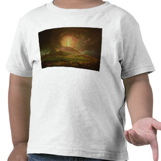 Una erupción de Vesuvio, vista de Portici Camisetas