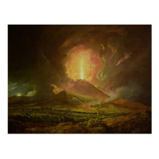 Una erupción de Vesuvio, vista de Portici Tarjetas Postales