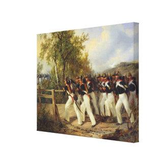 Una escena a partir de la vida del soldado, 1849 impresion de lienzo