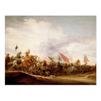 Una escena de batalla, 1653 tarjetas postales
