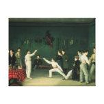 Una escena de cercado, 1827 impresion de lienzo