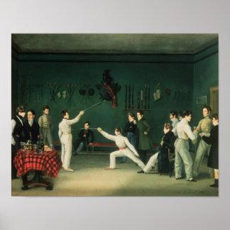 Una escena de cercado 1827 posters