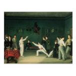 Una escena de cercado, 1827 postales