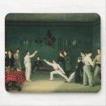 Una escena de cercado, 1827 tapete de raton
