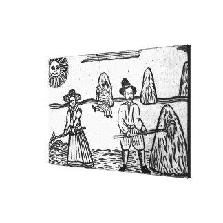 Una escena de cosecha impresiones de lienzo