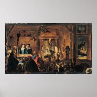Una escena de la brujería, 1633 posters