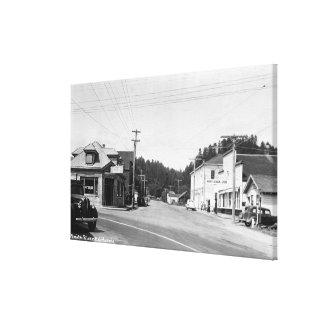 Una escena de la esquina de calle impresión en lienzo