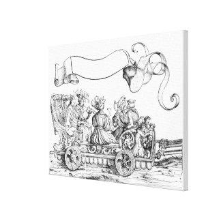 Una escena de la procesión triunfal de Maximiliano Impresión En Lienzo Estirada