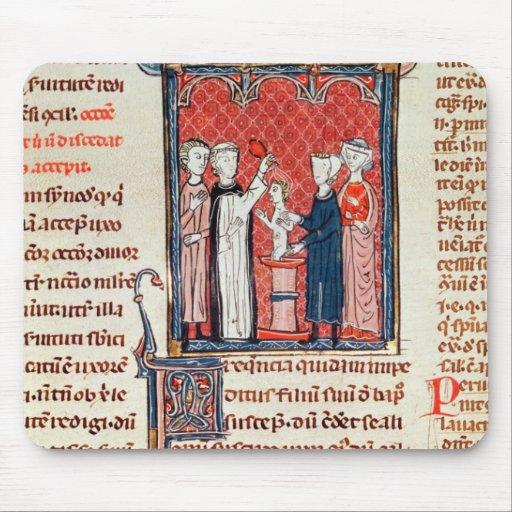 Una escena del bautismo, de 'Decrets de Gratien' Tapetes De Ratón