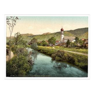 Una escena en el Ammer, Oberammergau, Baviera Postales
