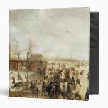 Una escena en el hielo cerca de una ciudad, c.1615