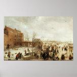 Una escena en el hielo cerca de una ciudad, c.1615 poster