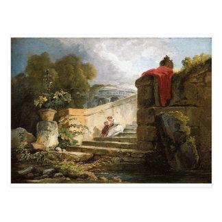 Una escena en los argumentos del chalet Farnese, Postal