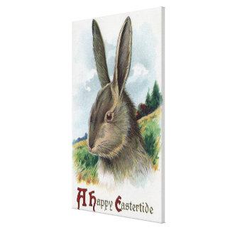 Una escena feliz del conejo de EastertideGray Impresiones En Lona Estiradas
