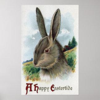 Una escena feliz del conejo de EastertideGray Impresiones
