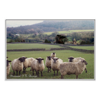 Una escena inglesa del país póster