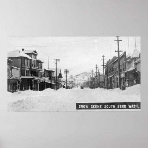 Una escena Nevado Póster