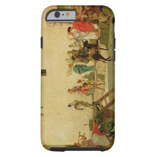 Una escena romana de la calle con músicos y un funda de iPhone 6 tough
